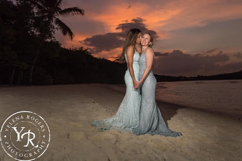 St John Sunset Wedding